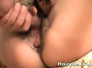Hairy teen pussy hot and wet