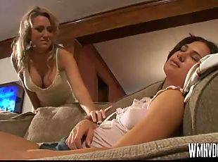 Alana Evans With Babysitter