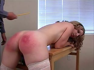 Wild And Horny Teacher Spanked Hard Some Blondes Hot Ass