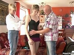 His cute GF is lured into crazy threesome