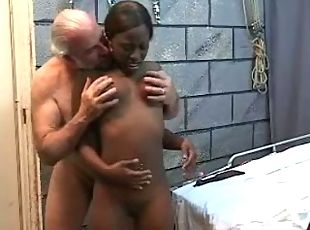 Interracial Fucking With Slim Young Black Female And Old White Bone-head