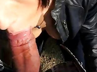 Slutty european nymph nailed at the park