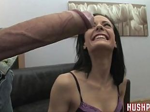 Aliz takes a massive cock in her asshole