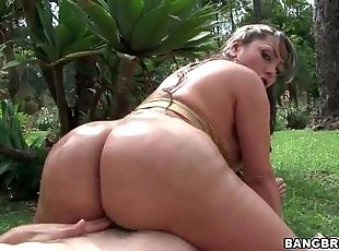 Fat ass Latina rides dick in POV video