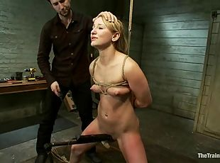 Jessie Cox gets bound, tortured and brutally fucked in BDSM vid