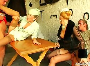 Elegant and rich European blondes turn out to be dirty sluts