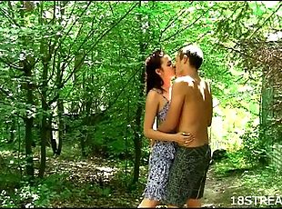 Raunchy and wild outdoor sex