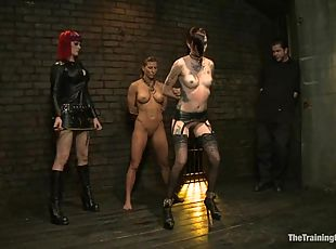 BDSM fantasies for two naughty sex slaves