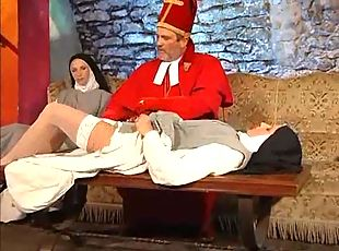 Nun fisted and fucked in basement