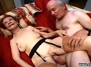 How about an old, skinny granny performs an out of this world orgy. ...