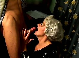 Wild Mature Hoe With Glasses Loves Stiff Cock In Her Twat